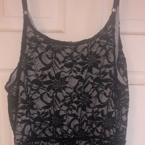 Black Lace Maurice's knee-length dress size 3